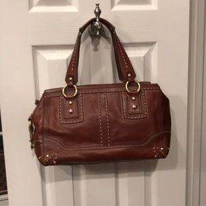 Beautiful Leather Coach satchel bag